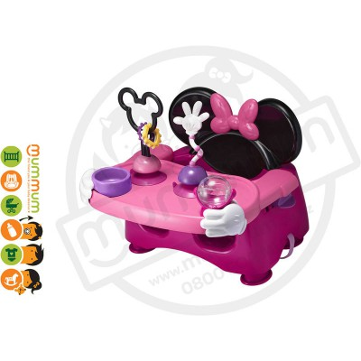 The First Years Minnie Mouse Activity Feeding Seat  Booster With Toys 6M+