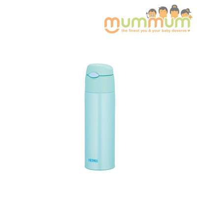 Thermos mint straw bottle 550ml