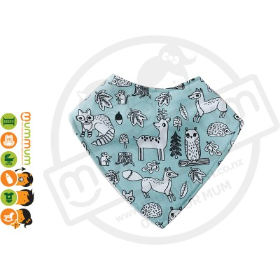 Eversweet Dribble Bib Mint Animals
