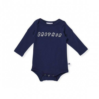 a5b147a66fe Minti Brother LS Onesie Ink Size NB - 12M