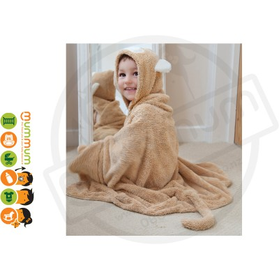 Cuddledry Snuggle Fun Towel 3-6Y - Monkey