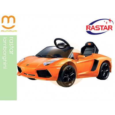 Rastar Lamborghini Cool  Ride On Kid Car Orange