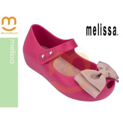 Mini Melissa Ultragirl Sweet Fabric Bow Pink