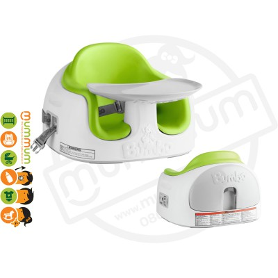 Bumbo Multi Seat Lime Portable Highchair w/ Tray 6M-3Y