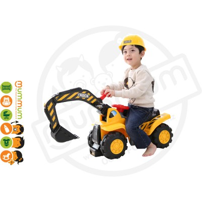 iFam Kids Wheel Poclain Digger Ride on