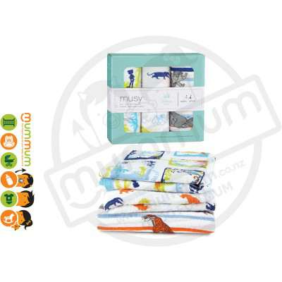Aden and Anais Disney Baby Muslin Squares - Jungle Book 3pack