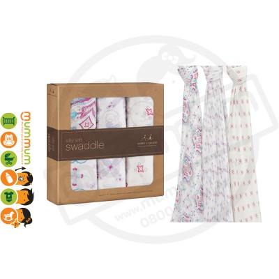 Aden and Anais Muslin bamboo Wraps Flower Child 3pack