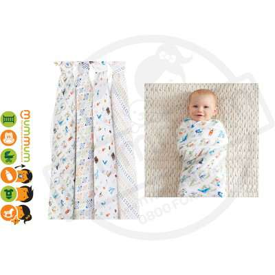Aden and Anais Swaddle Paper Tales 4pack