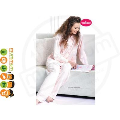 Mammy Village Elegant Nursing Pajamas Pink