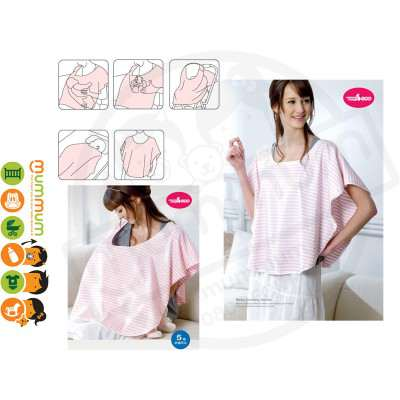 Mammy Village Multipurpose Baby Nursing Cover Pink Strip
