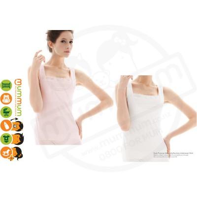 Mammy Village Underwear Shirt Sleeveless Pink/White