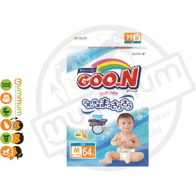 GOO.N Nappies Japan Version Size M 64pcs 6-11kgs