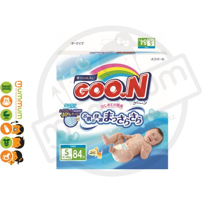 GOO.N Nappies Japan Version Size S 84pcs 4-8kgs