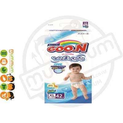 GOO.N Nappies Japan Version Size XL 42pcs 12-20kgs
