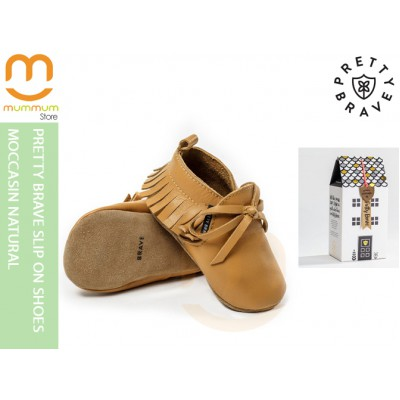 Pretty Brave Slip On Shoes Moccasin Natural