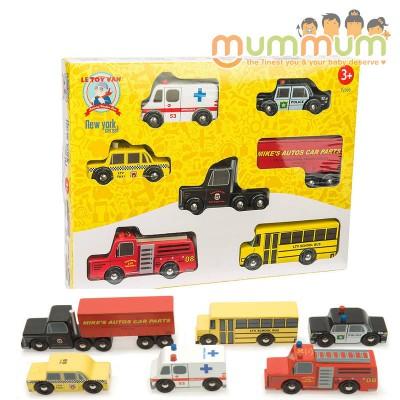 Le Toy Van New York Wooden Car Set