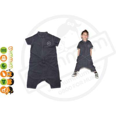 NUNUNU Divided Woven Overall Chooses Sizes from 2-7Y Nnisex
