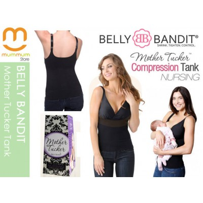Belly Bandit Compression Nursing Tank Black Medium