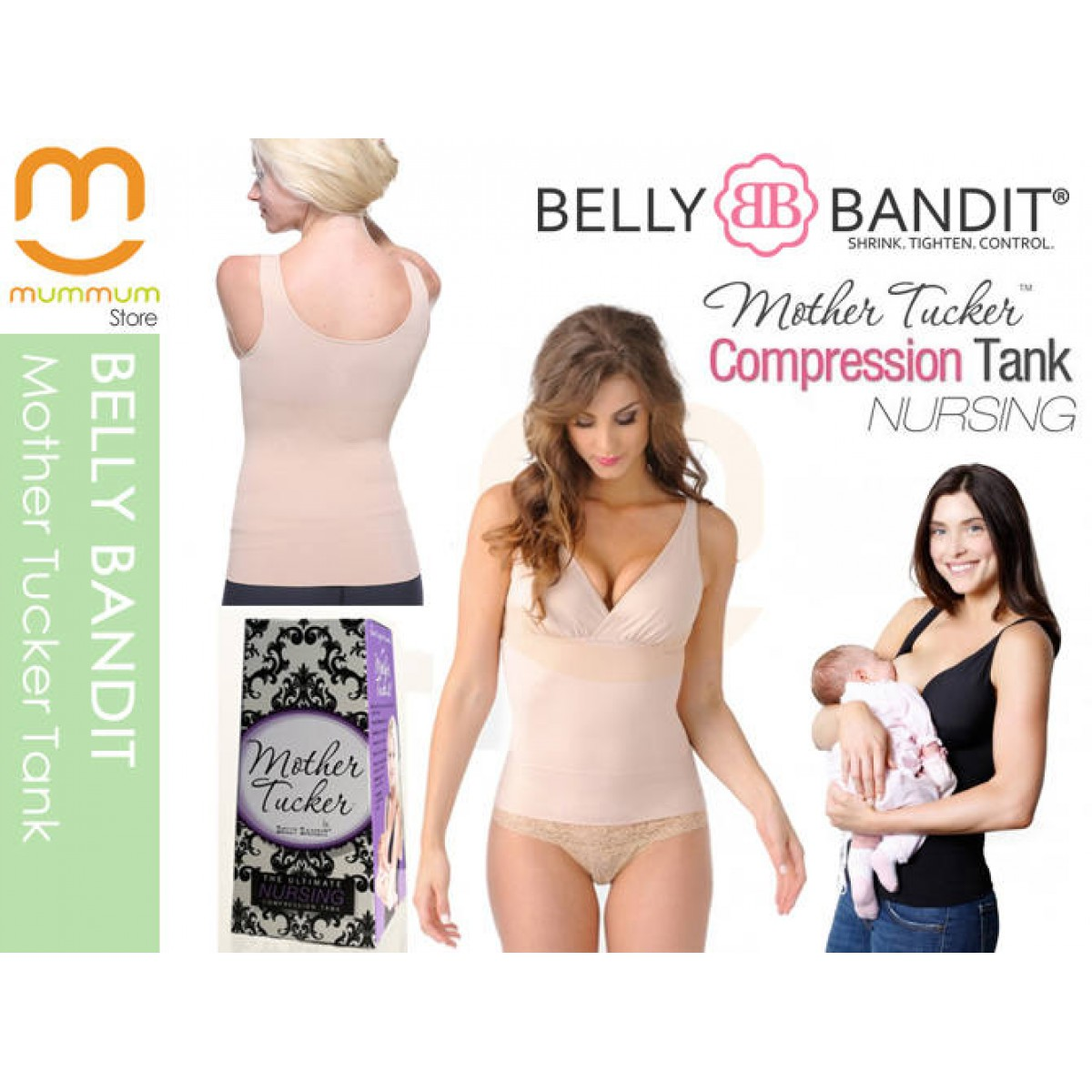 76e231e3af42e Availability  In Stock  Product Code  Belly Bandit Nursing Tank Nude S   Brand  Belly Bandit