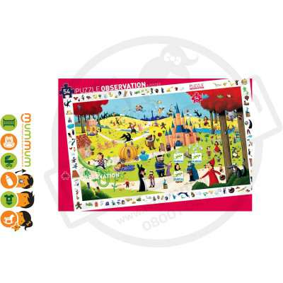 Djeco Puzzle Observation & Poster - Fairy Tale, 54pcs