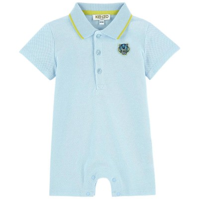 Kenzo Baby Polo All In One Shortie Light Blue 9M-1Y