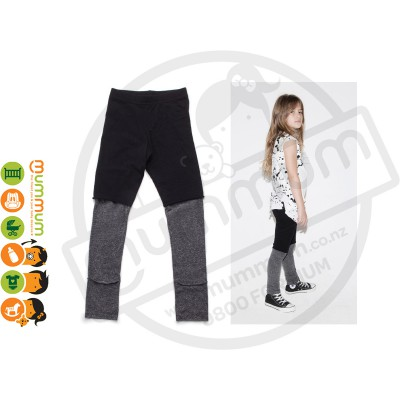 Nununu One on One Leggings Black/Charcoal