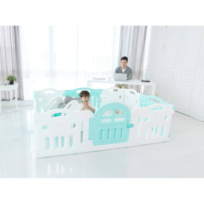 iFam Marshmallow Plus Baby Room Playpen L2.1 x W1.48X H0.65 Mint