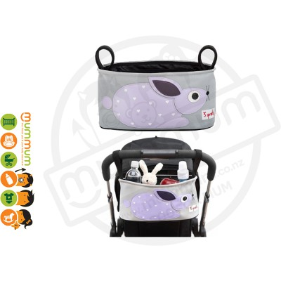 3 Sprouts Stroller Organizer Purple Rabbit