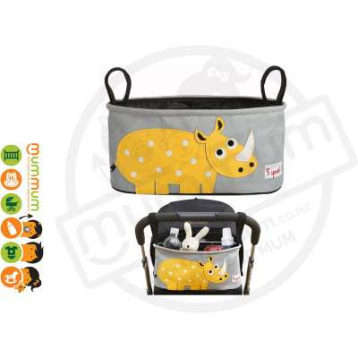 3 Sprouts Stroller Organizer Yellow Rhino