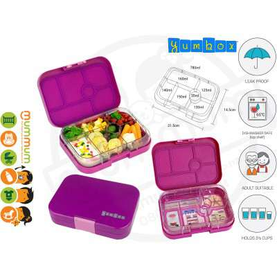 Yumbox Bijoux Purple 6 - Compartment Food Tray