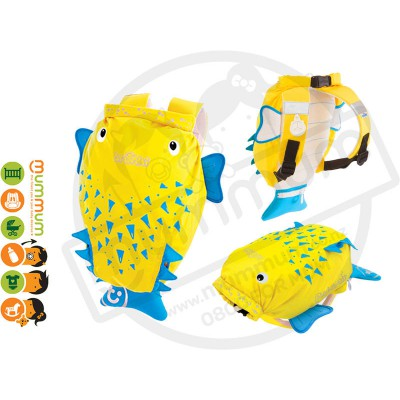 Trunki Paddlepack  Glow Fish Water resistant Beach Bag Swim Class Bag