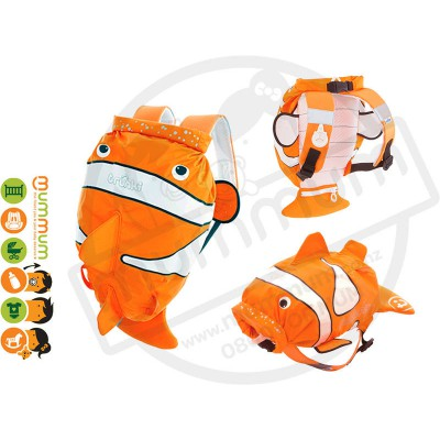 Trunki paddlepack clown fish Water resistant Beach Bag Swim Class Bag