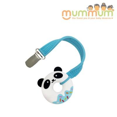 Silli Chews Teether & Strap Blue Panda