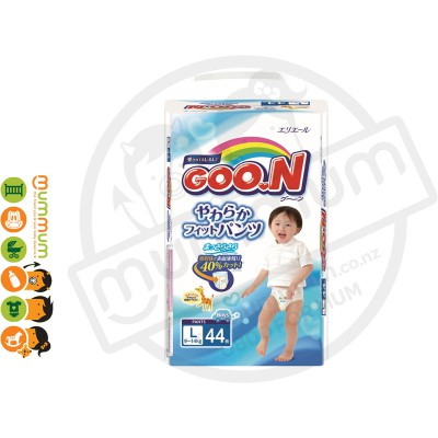 GOO.N Nappy Pants Size L 44 pcs for Boy 9-14kgs