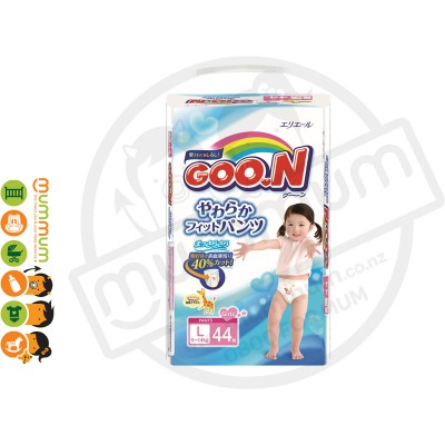 GOO.N Nappy Pants Size L 44 pcs for Girl 9-14kgs