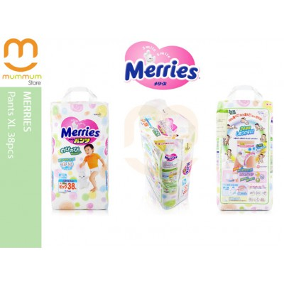 Merries Pants Japan Version Size XL 38pcs 12-22kgs