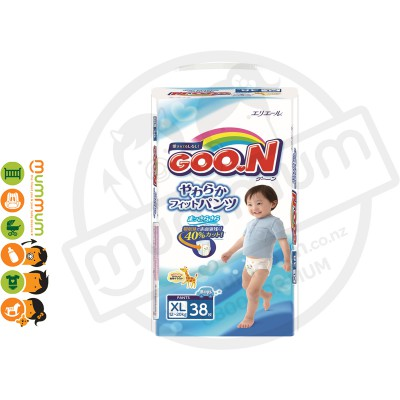 GOO.N Nappy Pants Size XL 38 pcs for Boy 12-20kgs