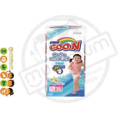 GOO.N Nappy Pants Size XL 38 pcs for Girl 12-20kgs