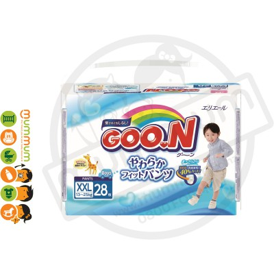 GOO.N Nappy Pants Size XXL 28 pcs For Boy 13-25kgs