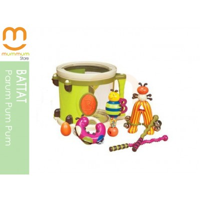 Battat Parum Pum Pum Drum Set Kids Instrument Set Rattle