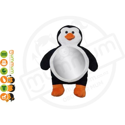 Luca Penguin Backseat Baby Car Mirror