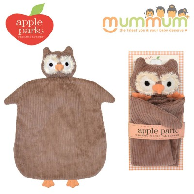 Apple Park Picnic Pal Blankie - Owl
