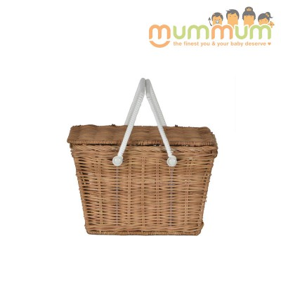 Olli Ella Kids Piki Picnic Basket Natural@ETA 28th April