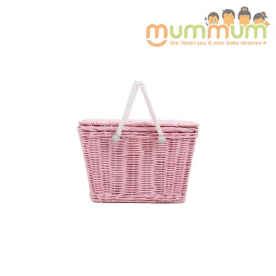 Olli Ella Kids Piki Picnic Basket Pink@ETA 28th April