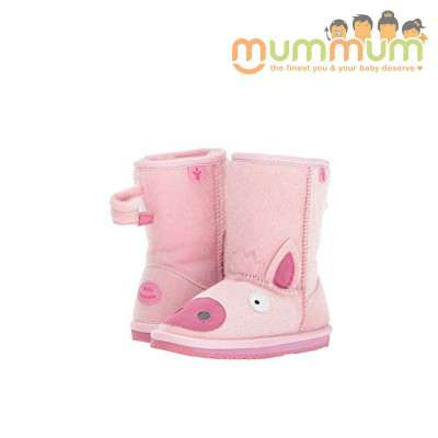 EMU Big Kids piggy pink size 8