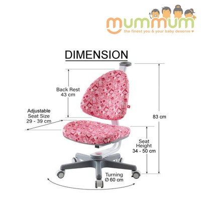 Kid2youth Swival Chair BLUE/ PINK/ GREEN