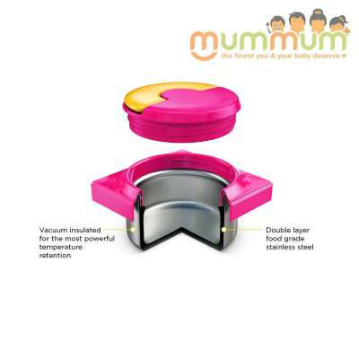 Omielife Lid for Jar Pink, not included stainless steel bowl