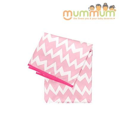 Bumkins Splat Mat - Pink Chevron
