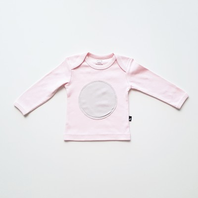 Anarkid Tee Long Sleeve Circle Patch Ice Pink