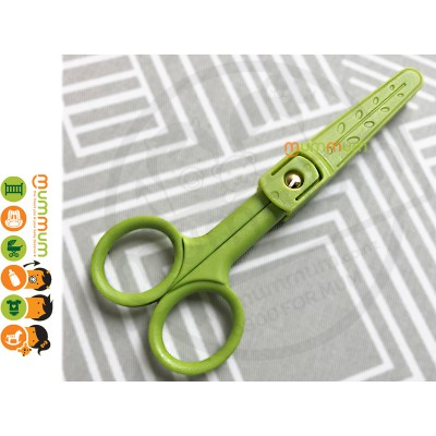 Ceramic Scissors with Case or Baby Food Cutting Lime 15cm Length--- By mummum